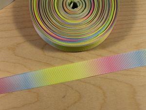 `Репсовая лента с рисунком, градиент №1, ширина 25 мм, Арт. Р-ЛР5817-25-1