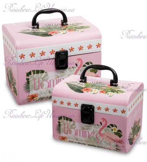 """Набор подарочных коробок с ручкой 2 шт """"Сундук"""""""