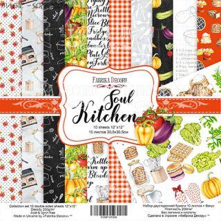 """Набор бумаги 30.5*30.5 от FD """"Soul Kitchen"""""""