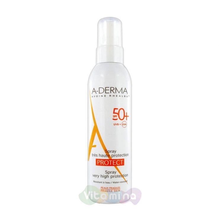 A-Derma Protect Cолнцезащитный спрей SPF50, 200 мл