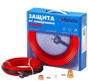 Готовый комплект кабеля NUNICHO Micro  внутрь трубы 10 Вт/м - 15 метров с вилкой и сальниковым узлом 1/2 и 3/4