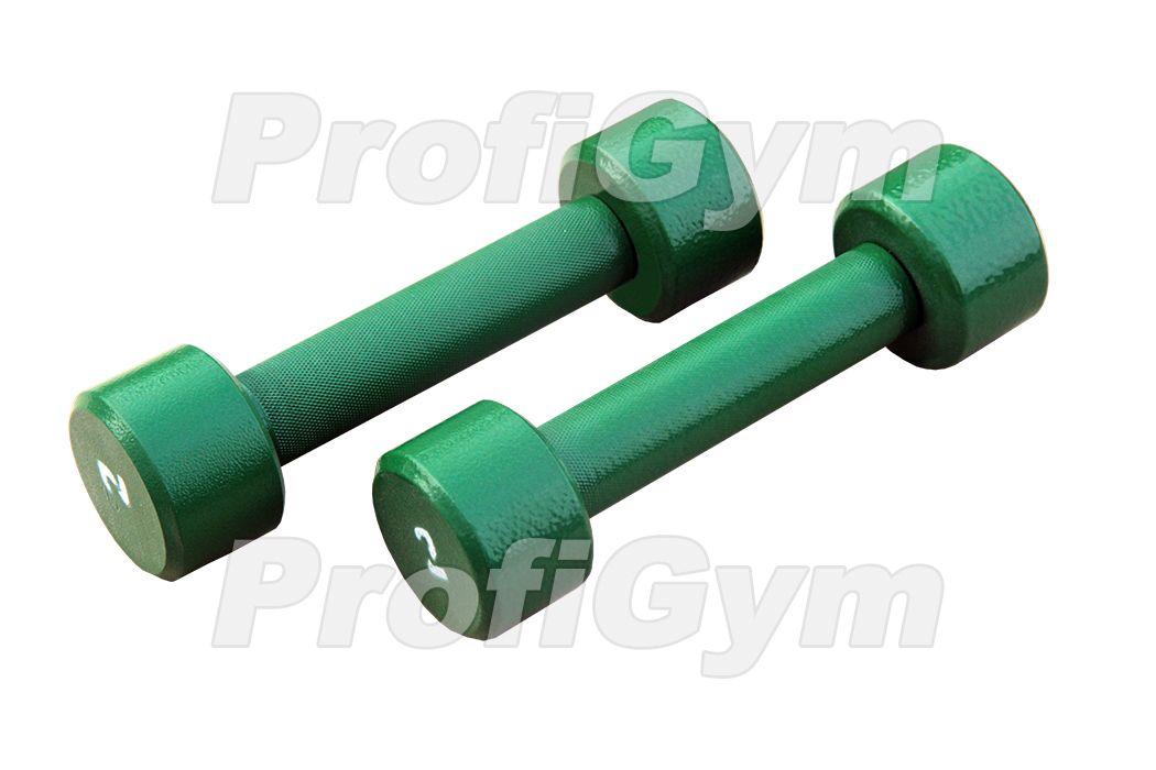 ГНП-2 Гантель «ProfiGym» неразборная с полимерным покрытием, 2 кг