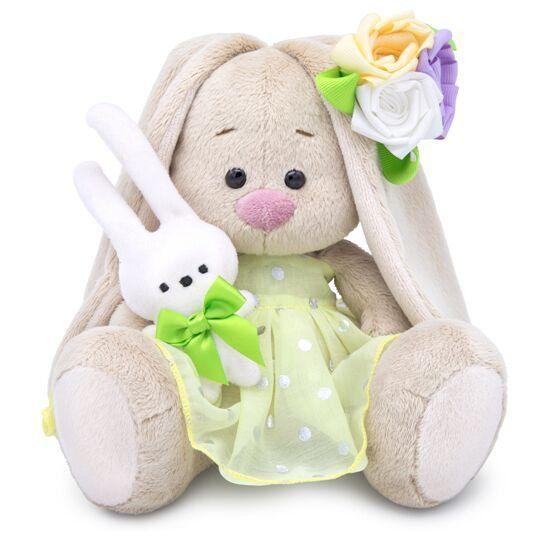 Зайка Ми с зайчиком и нарядным цветком малыш SidX-293