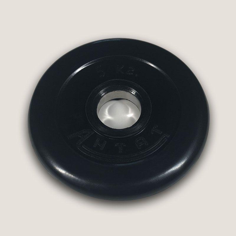 АН-5 Диск «Антат» тренировочный обрезиненный 5 кг, посадочный диаметр 26, 31, 51 мм