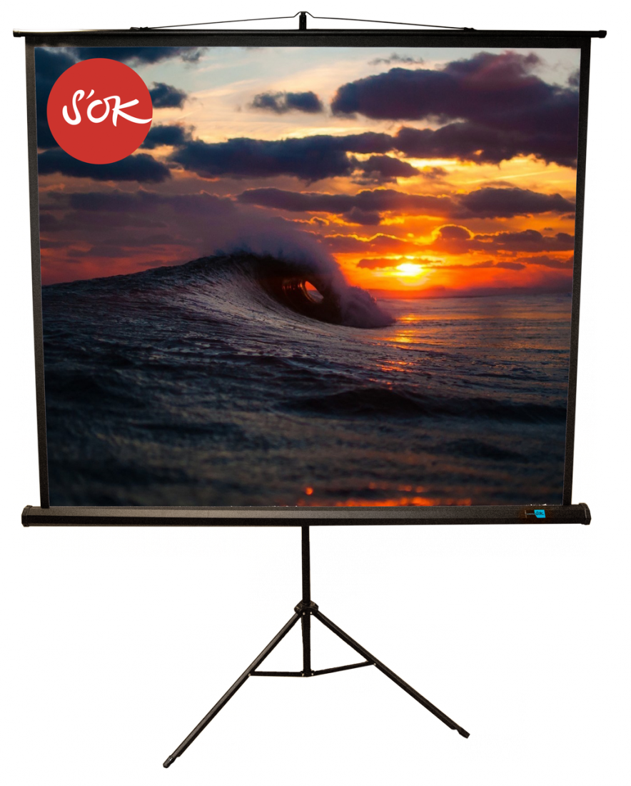 Экран S'OK SCPST-180x180BLCK