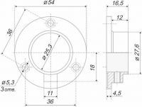 Штангодержатель для трубы 25 мм SHD01/2/1CP/1