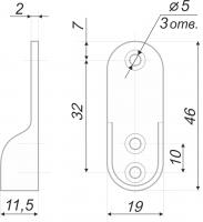 Штангодержатель для овальной трубы 15*30 мм SHD21/2/1CP/1