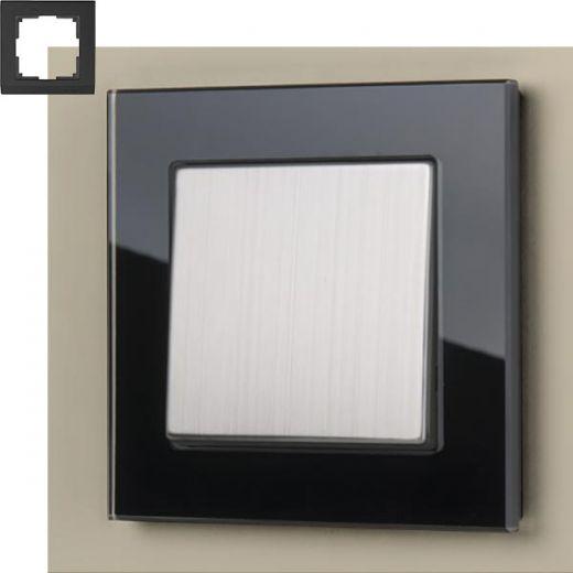 Рамка на 1 пост Werkel WL01-Frame-01 Черный