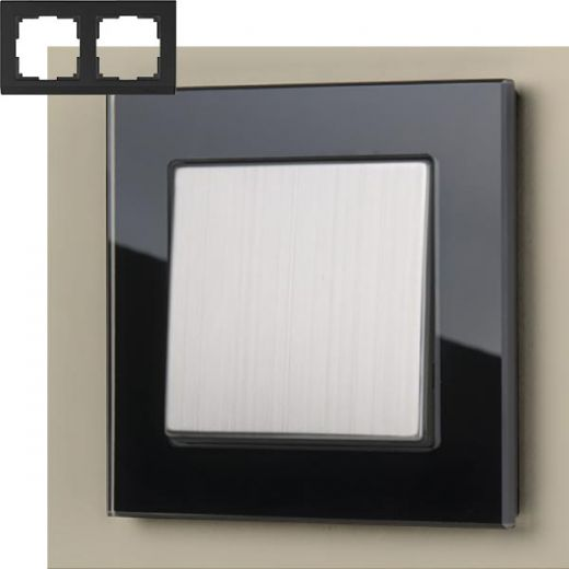Рамка на 2 поста Werkel WL01-Frame-02 Черный
