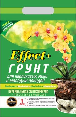 Грунт для мини орхидей Effect+  1л (+ пеностекло)