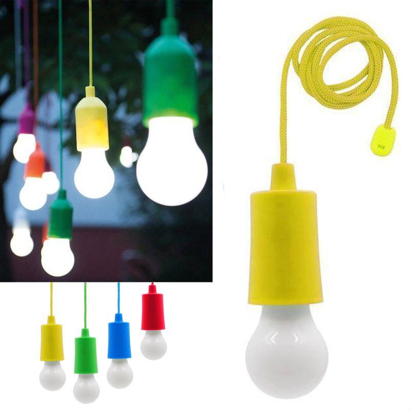 Светодиодная лампочка на шнурке Led Stretch Switch Light, цвет желтый