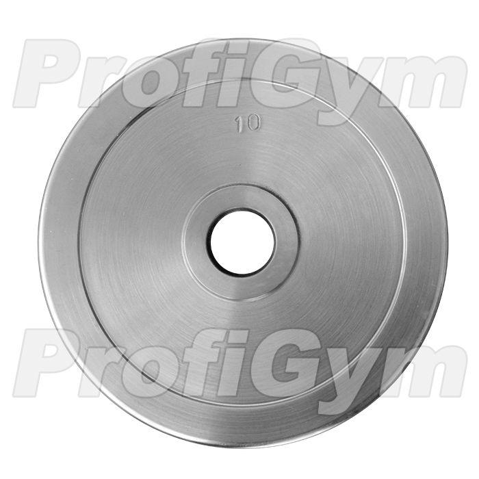 Диск хромированный «ProfiGym» 10 кг посадочный диаметр 26 мм