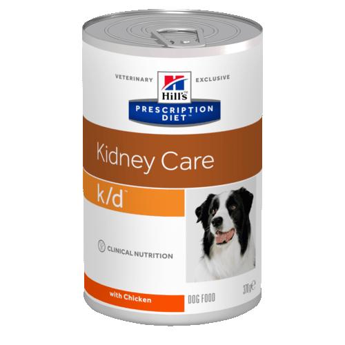 Консервы HILL's DIET K/D  диета для собак всех пород при почечной недостаточности 370гр