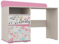 """Стол для детской """"Алиса"""" (920*1200*520)        Белый/ корпус Ясень Анкор Белый/ Розовый - 5050 руб."""