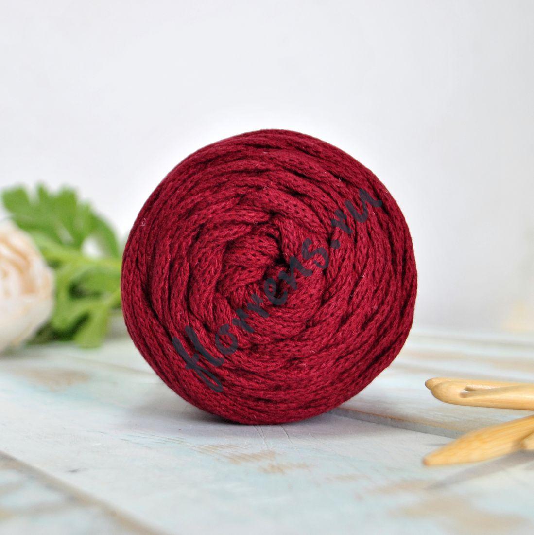 Шнур для вязания / бордовый