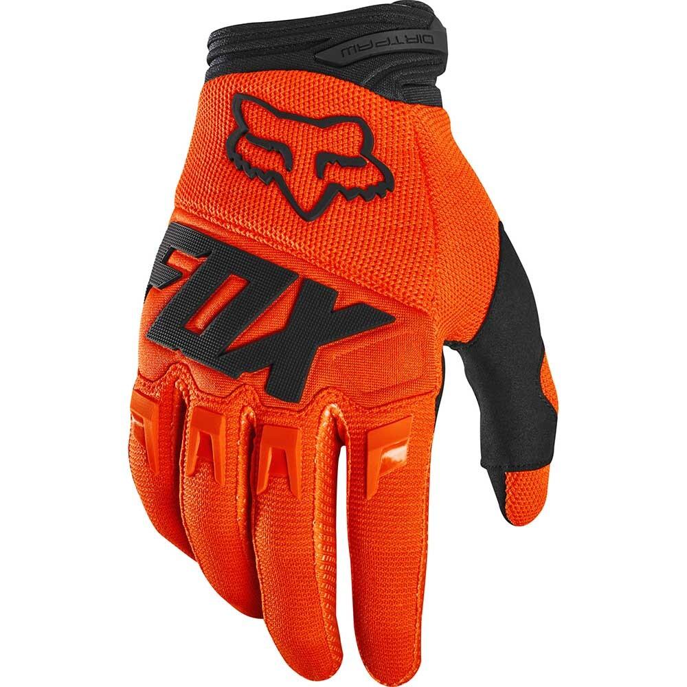 Fox Dirtpaw Race Fluorescent Orange перчатки, оранжевые