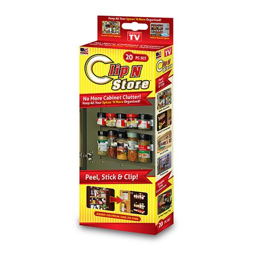Универсальный кухонный органайзер Clip n Store для шкафов и холодильников (на 20 позиций)