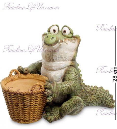 """Кашпо Крокодил с корзиной """"Sealmark"""""""