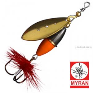 Блесна вертушка Myran Wipp Orange Svart 7гр / цвет: Guld 6442-02