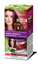 Стойкая натуральная укрепляющая крем-краска для волос серии «Народные рецепты» Тон Спелая вишня 120 мл