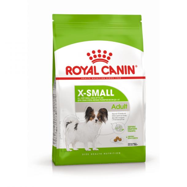 Корм сухой ROYAL CANIN X-SMALL ADULT для взрослых собак миниатюрных пород 3кг