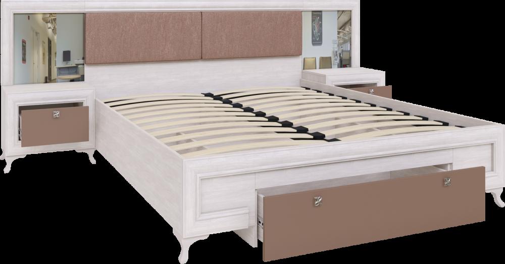 Саванна кровать с ортопедическим основанием и тумбами М06