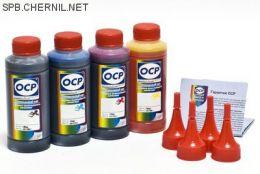 Чернила OCP для принтера и МФУ Canon G1400, G2400, G3400, G4400 (BKP230, C167, M167, Y167), с СНПЧ GI-490, комплект 100гр.x4