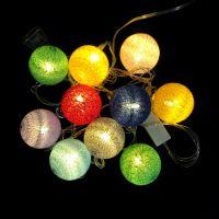 Электрическая разноцветная гирлянда Шарики, 10 шт (1)