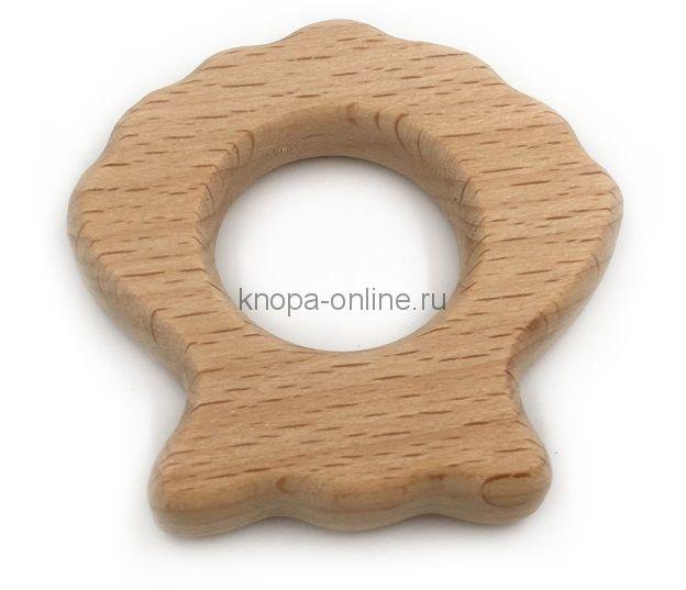 Деревянный грызунок - Ракушка