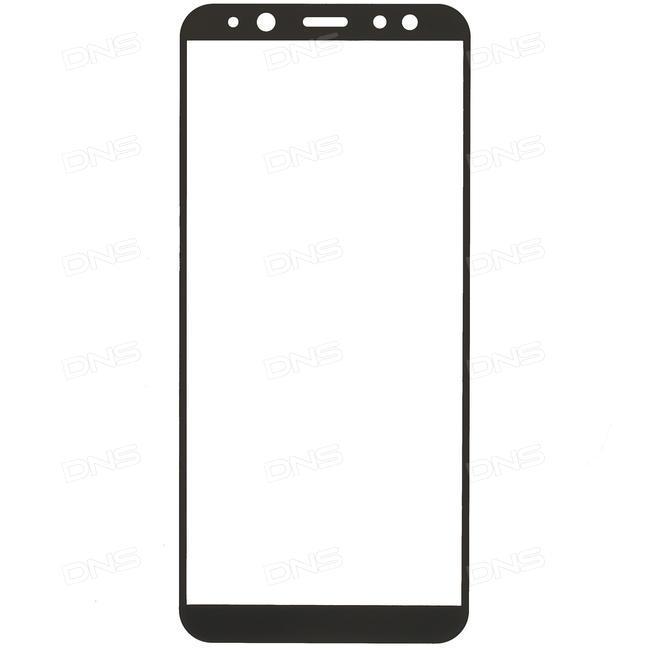Защитное стекло на Samsung A6 (2018)с рамкой(черное)