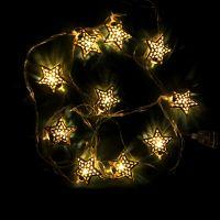 Гирлянда с металлическими ретро-звездами, 2.4 м (2)