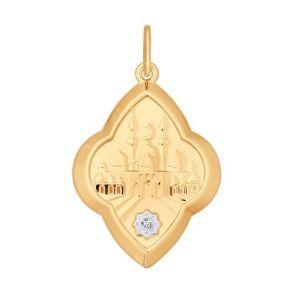 Подвеска мусульманская из золота с фианитом 034843 SOKOLOV