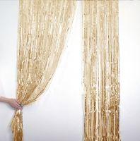 Новогодний дождик Штора, 2 м х 1 м, цвет золотистый (2)