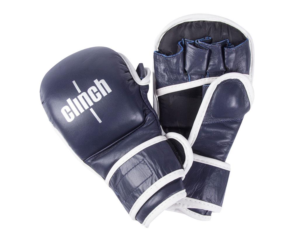 Перчатки для смешанных единоборств Clinch Union синие, размер L, артикул C691