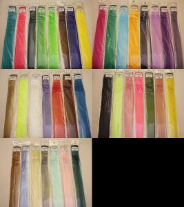 Прядь волос на заколке(искусственные), длина 50см, ширина 3,2см, цвет №04 зеленый (1уп = 5шт)