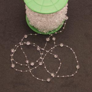 `Бусины на леске, диаметр бусин 3/8мм, цвет прозрачный