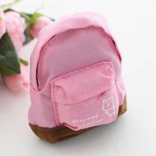 Кукольный аксессуар - Рюкзак для куклы тканевый Розовый, 12 см