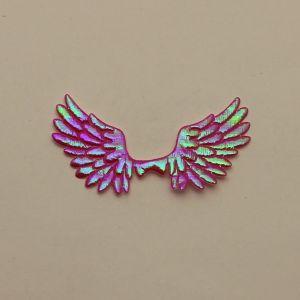"""Патч """"Крылья"""", 70*35 мм, цвет розовый (1уп = 25шт)"""