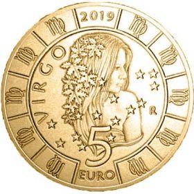 Знак Зодиака Дева 5 евро Cан-Марино 2019 на заказ