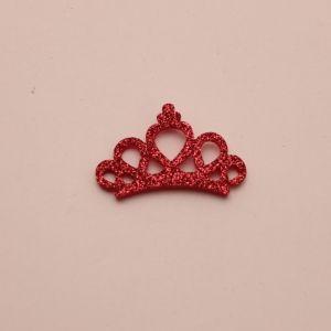 """`Патч """"Корона с блестками"""", 46*31 мм, цвет  розовый (1уп = 5шт)"""