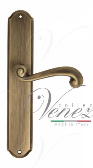 "Дверная ручка Venezia ""CARNEVALE"" на планке PL02Матовая бронза"
