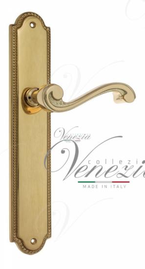 """Дверная ручка Venezia """"VIVALDI"""" на планке PL98 полированная латунь"""