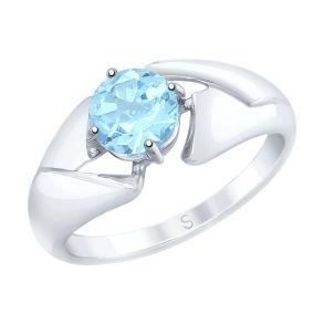 Кольцо из серебра с топазом 92011602 SOKOLOV