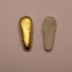 """Патч """"Основа для заколки"""", 47*17 мм, цвет золото (1уп = 25шт)"""