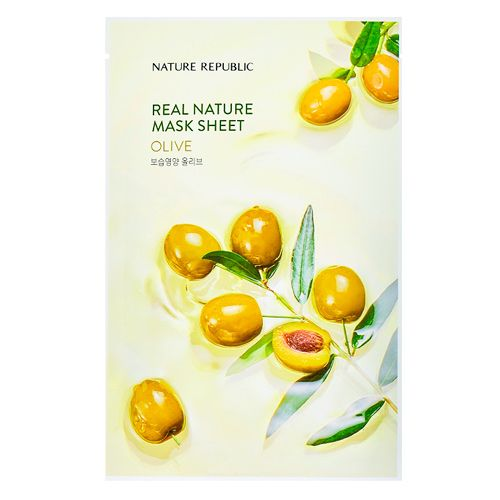 Маска для лица листовая с экстрактом оливы Nature Republic (Нейчер Репаблик) 23 г