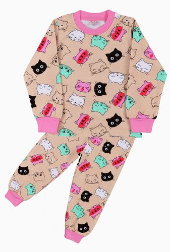 Пижама с начесом, для девочек 2-6 лет BN921J
