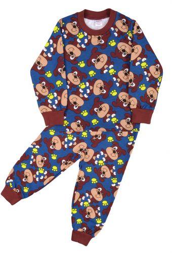 Пижама с начесом, для мальчиков 2-6 лет BN921 темно-синий