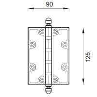 Петля карточная DND 2307/1 (Martinelli). схема