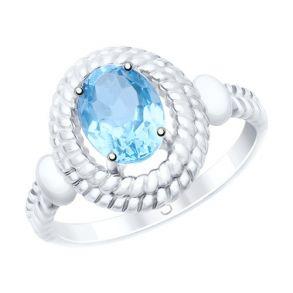Кольцо из серебра с топазом 92011528 SOKOLOV