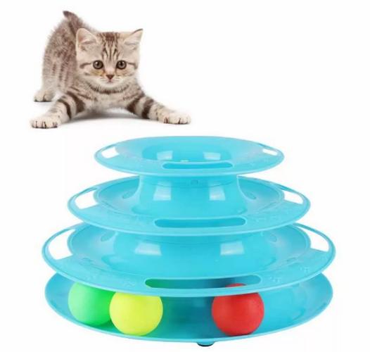 Игрушка-трек для кошек Tower Of Tracks, 3 яруса